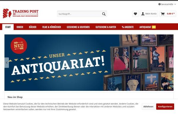 Vorschau von www.tradingpost.de, Tradingpost - Karl-May-Bücher - Karl-May-Onlineshop