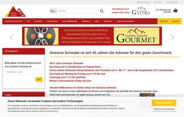 Vorschau von www.gewuerze-schwabe.de, Gewürze Schwabe GmbH