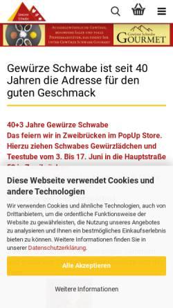 Vorschau der mobilen Webseite www.gewuerze-schwabe.de, Gewürze Schwabe GmbH