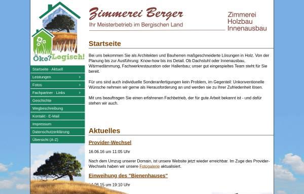 Vorschau von www.zimmereiberger.de, Zimmerei Rainer Berger