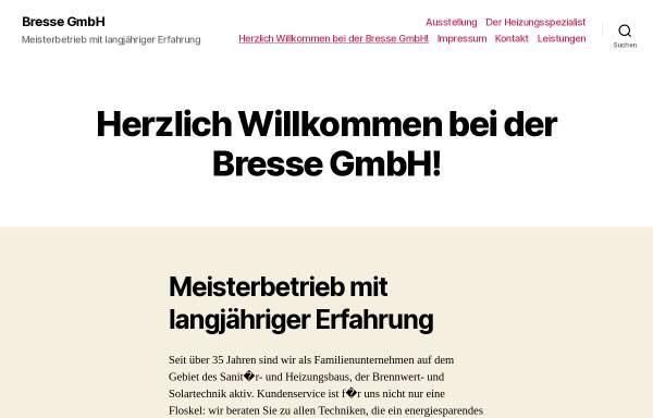Vorschau von www.bressegmbh.de, Günter Bresse GmbH