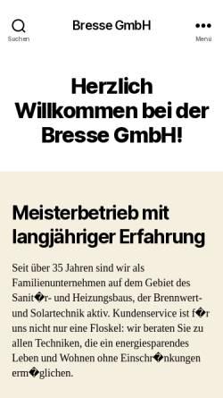 Vorschau der mobilen Webseite www.bressegmbh.de, Günter Bresse GmbH