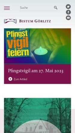 Vorschau der mobilen Webseite bistum-goerlitz.de, Görlitz - Bistum