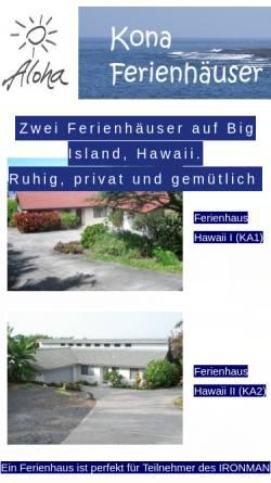 Vorschau der mobilen Webseite www.traumurlaub-hawaii.de, Traumurlaub Hawaii