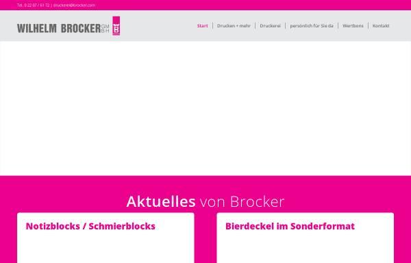 Vorschau von www.brocker.com, Druckerei Brocker