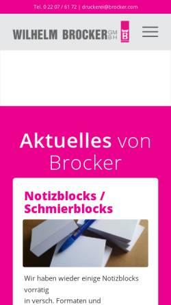 Vorschau der mobilen Webseite www.brocker.com, Druckerei Brocker