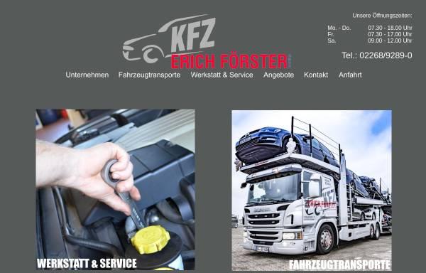 Vorschau von www.kfz-foerster.de, KFZ-Werkstatt Erich Förster