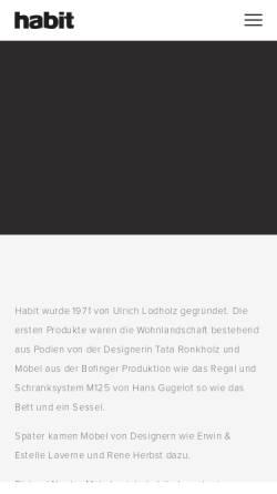 Vorschau der mobilen Webseite www.habit.de, habit - Ulrich Lodholz GmbH