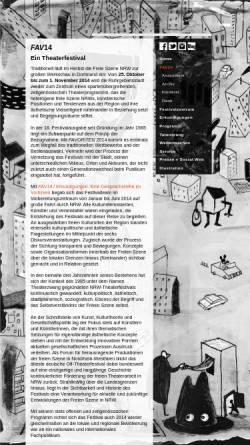 Vorschau der mobilen Webseite www.freie-daku-nrw.de, Verband Freie Darstellende Künste NRW e.V.