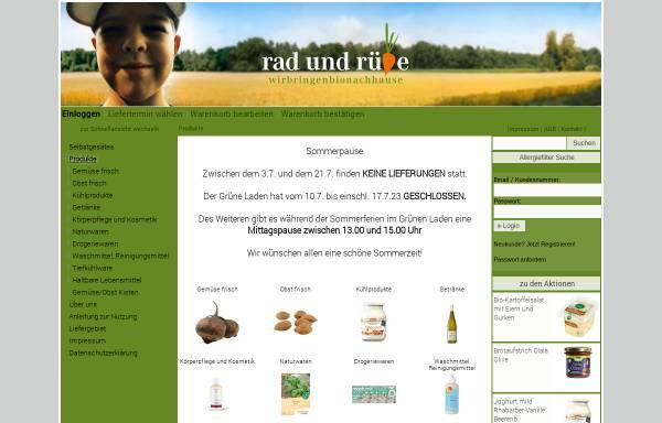 Vorschau von www.rad-und-ruebe.de, Rad und Rübe Naturkost
