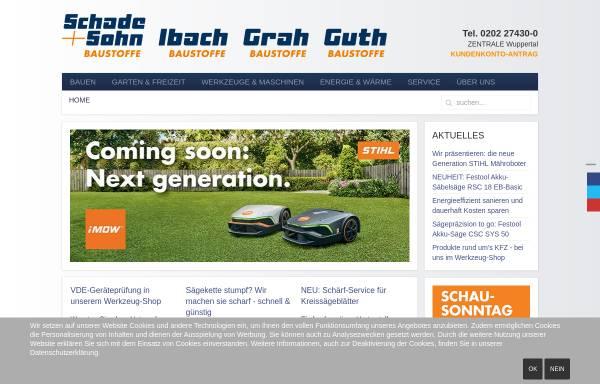 Vorschau von www.schadeundsohn.de, Schade + Sohn GmbH