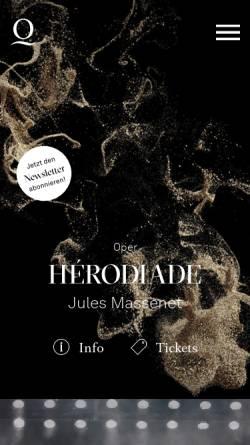 Vorschau der mobilen Webseite www.rheinoper.de, Deutsche Oper am Rhein