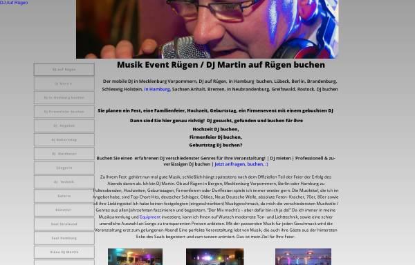 Vorschau von www.event-dj-buchen.de, Musik Event Rügen - Tandem Disco
