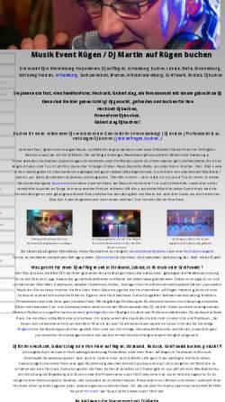 Vorschau der mobilen Webseite www.event-dj-buchen.de, Musik Event Rügen - Tandem Disco