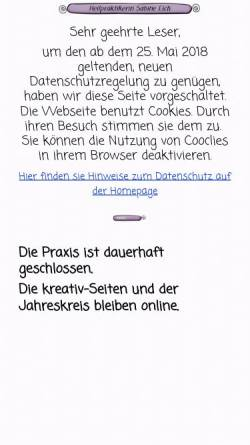 Vorschau der mobilen Webseite hp-eich.de, Eich, Sabine