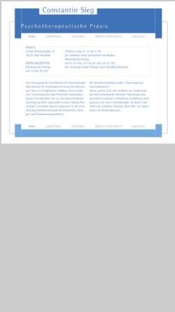 Vorschau der mobilen Webseite www.constantin-sieg.de, Psychotherapeutische Praxis Constantin Sieg
