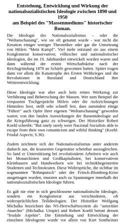 Vorschau der mobilen Webseite www.westfr.de, Entstehung und Wirkung der NS-Ideologie im historischen Roman