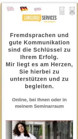 Vorschau der mobilen Webseite www.fluentenglish.de, Fluent English