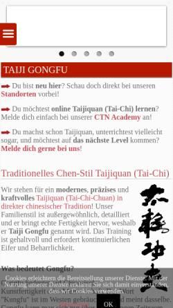 Vorschau der mobilen Webseite www.ctnd.de, Chen-Stil Taijiquan Netzwerk Deutschland (CTND)
