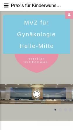 Vorschau der mobilen Webseite www.berliner-kinderwunsch.de, Praxis für Kinderwunschtherapie Berlin Helle-Mitte