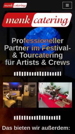 Vorschau der mobilen Webseite monkcatering.de, Monk Catering Köhler und Scholz