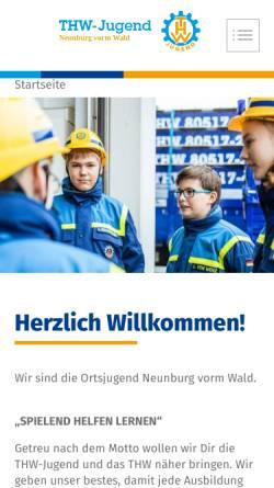 Vorschau der mobilen Webseite www.thw-neunburg.de, THW-Jugend Neunburg vorm Wald