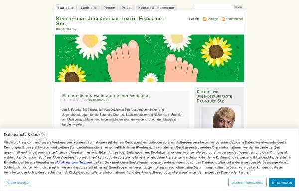 Vorschau von kijufrankfurtsued.wordpress.com, Kinder- und Jugendbeauftragte Frankfurt-Süd