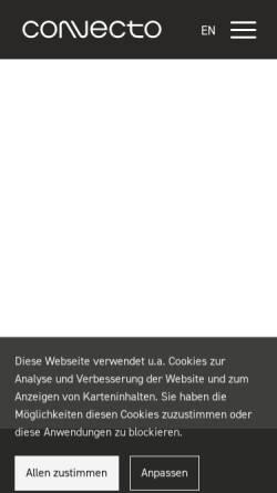 Vorschau der mobilen Webseite www.convecto.com, Convecto GmbH