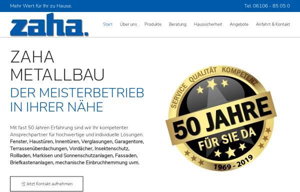 Vorschau von www.zaha.de, ZAHA Metallbau GmbH