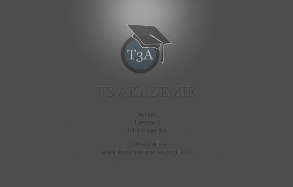 Vorschau von www.t3-akademie.de, T3-AKADEMIE