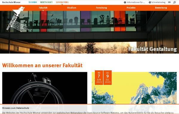 Vorschau von www.fg.hs-wismar.de, Fachbereich Architektur