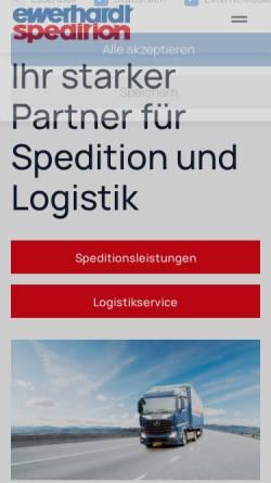 Vorschau der mobilen Webseite www.ewerhardt.org, Ewerhardt Logistik und Spedition