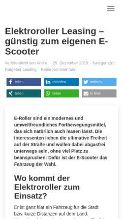 Vorschau der mobilen Webseite www.alt-moped.de, Alt-Moped.de - Hans-Jürgen Beyers