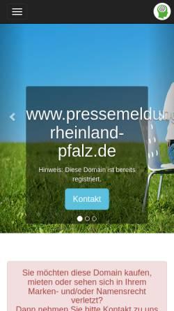 Vorschau der mobilen Webseite www.pressemeldung-rheinland-pfalz.de, Pressemeldung Rheinland Pfalz.de