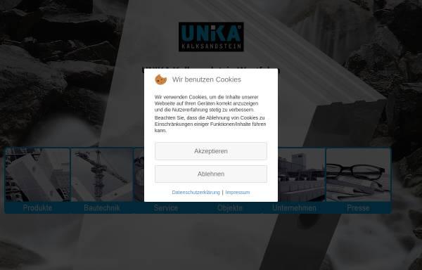 Vorschau von www.kspe.de, UNIKA Kalksandstein Westfalen GmbH