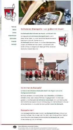 Vorschau der mobilen Webseite www.blaskapelle-dollnstein.de, Dollnsteiner Blaskapelle