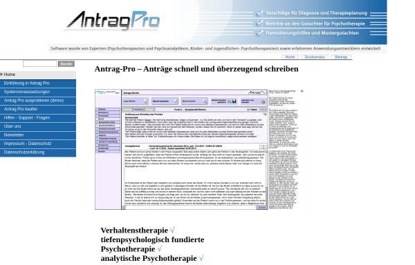 Vorschau von www.antrag-pro.de, Antrag-Pro