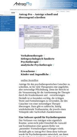Vorschau der mobilen Webseite www.antrag-pro.de, Antrag-Pro