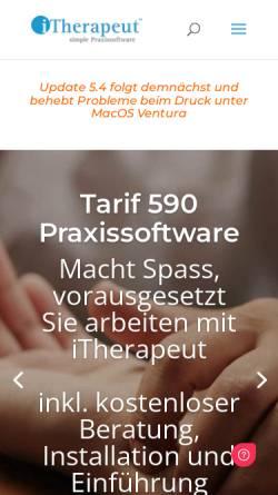 Vorschau der mobilen Webseite www.itherapeut.ch, iThearpeut - Praxissoftware