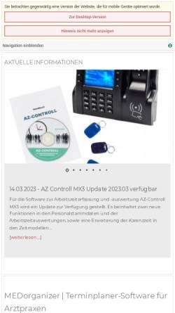 Vorschau der mobilen Webseite www.medorganizer.de, MED+ORG Alexander Reichert GmbH