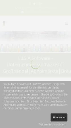 Vorschau der mobilen Webseite www.easyhands.at, Praxisverwaltung für Therapeuten
