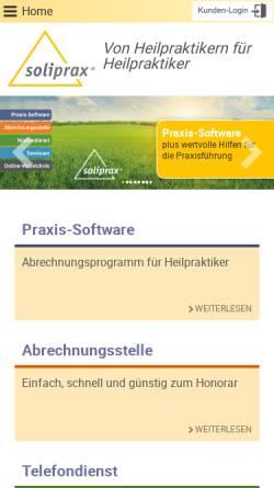 Vorschau der mobilen Webseite www.soliprax.de, SoliPrax e.K.