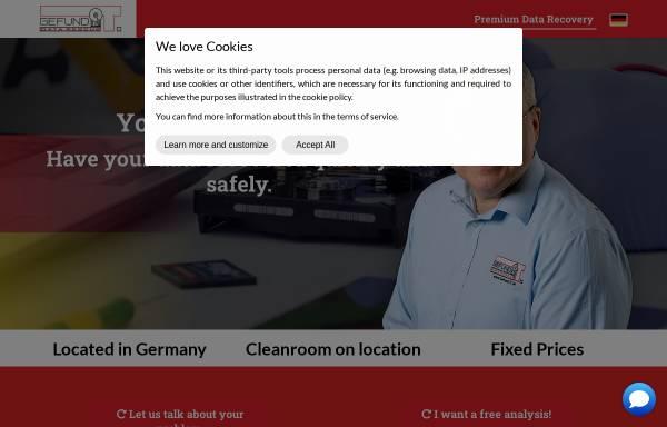 Vorschau von www.gefund-it-datenrettung.de, Gefund-IT Frank Meincke