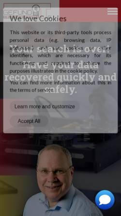 Vorschau der mobilen Webseite www.gefund-it-datenrettung.de, Gefund-IT Frank Meincke