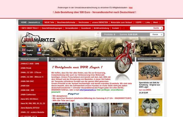 Vorschau von www.jawamarkt.cz, JAWAmarkt.cz