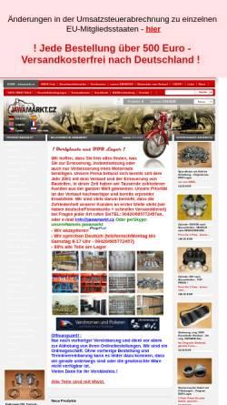 Vorschau der mobilen Webseite www.jawamarkt.cz, JAWAmarkt.cz
