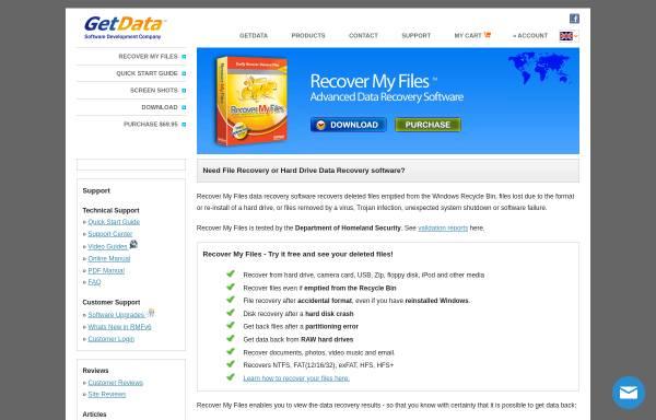 Vorschau von www.recovermyfiles.com, Recover My Files - Software