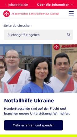 Vorschau der mobilen Webseite www.johanniter.de, Johanniter Krankenhaus Stendal