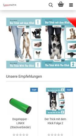 Vorschau der mobilen Webseite www.clickershop24.de, Clickershop24, Denise Nardelli