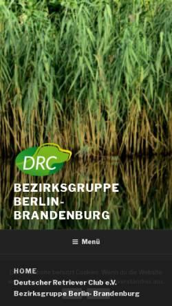 Vorschau der mobilen Webseite www.drc-bzg-bb.de, Deutscher Retriever Club, Bezirksgruppe Berlin Brandenburg